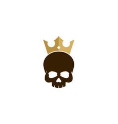 Skull king logo icon design vector