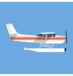 Small amphibian seaplane vector