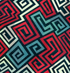 spiral maze seamless pattern vector image