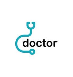 stethoscope symbol vector image