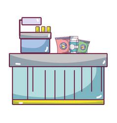 Supermarket products cartoon vector