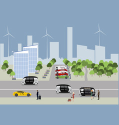 the city of the future concept vector image