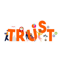 Trust building business concept reliance vector