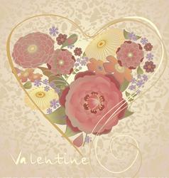 valentine postcard vector image