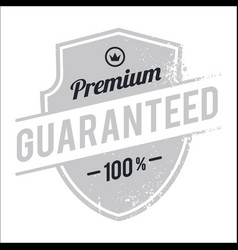 Vintage guaranteed shield image vector