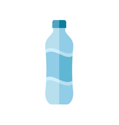 water bottle - flat style icon on white background vector image