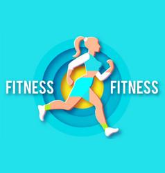 Woman fitness poster template sport motivation vector