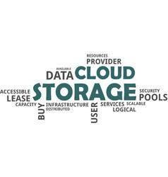 Word cloud - cloud storage vector
