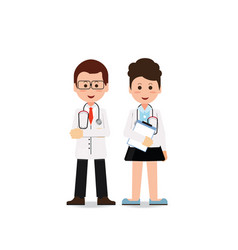 young professional medical team workers vector image