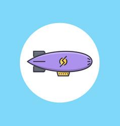 zeppelin icon sign symbol vector image