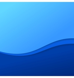 Abstract blue wave background with stripes vector image