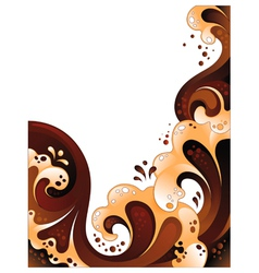 abstract chocolate and milk background vector image