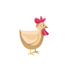Adult Chicken Simplified Cute vector image