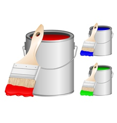 brushes and paint vector image vector image