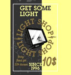 color vintage light shop banner vector image vector image
