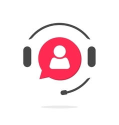 Customer support vecot icon phone assistant logo vector image vector image