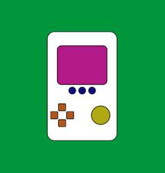 flat icon design collection tetris portable game vector image vector image