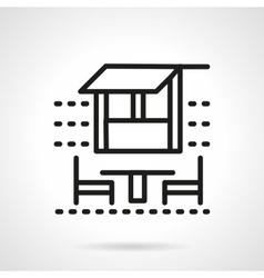 Outdoor cafe black simple line icon vector image vector image