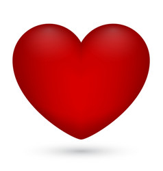 red heart on white vector image