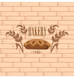 Bakery Logo on Brick Wall Beackground vector image