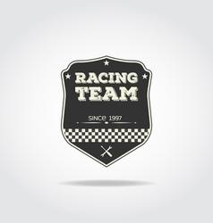Racing club vector image