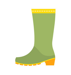 rubber boots protective shoes flat color icon or vector image vector image