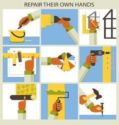 Set of home remodeling Repair their own hands vector image