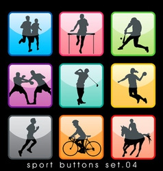sport buttons 04 vector image vector image