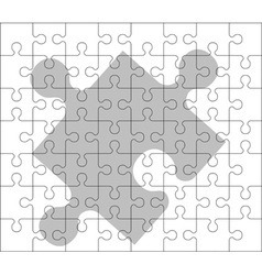 stencil of puzzle pieces second variant vector image vector image