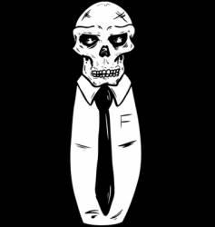 suit wearing skull vector image vector image