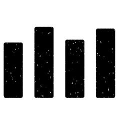 Bar Chart Grainy Texture Icon vector image vector image