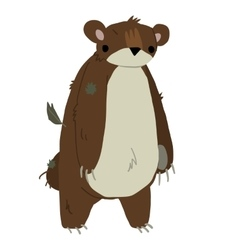 Cartoon teddy bear flat icon mascot vector image