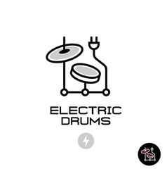 Electronic drums sign vector image