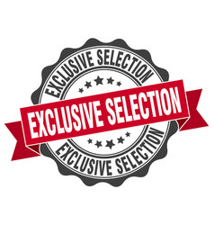 exclusive selection stamp sign seal vector image