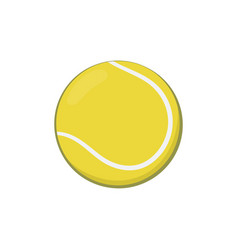 icon of yellow tennis ball in cartoon style vector image vector image
