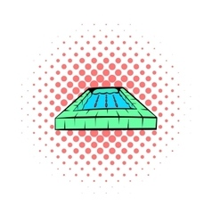 Swimming pool icon comics style vector image vector image