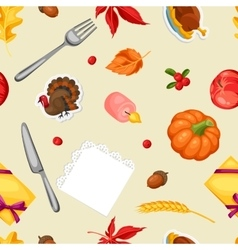Thanksgiving Day seamless pattern Ornament with vector image