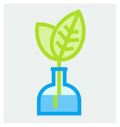 Young plant in vase poster vector image vector image