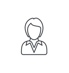 businesswoman lady avatar business thin line vector image