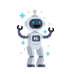 funny robot vector image
