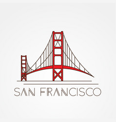 golden gate bridge - the symbol of us san vector image