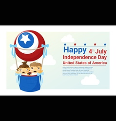 Happy independence day USA 4th of july vector image
