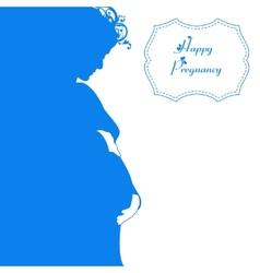 Happy pregnancy background vector image vector image