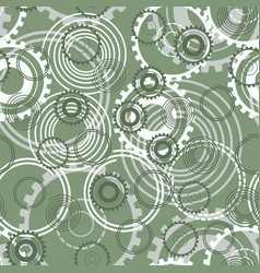 seamless pattern springs gear wheels background vector image