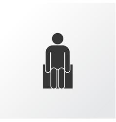 sitting icon symbol premium quality isolated vector image