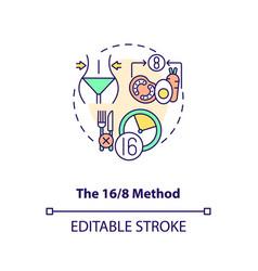 16-8 method concept icon vector