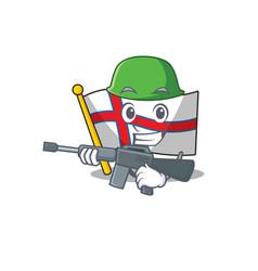 A mascot flag faroe island scroll army vector