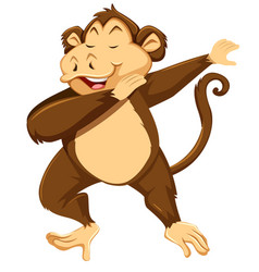 A monkey dab on white background vector