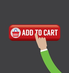Add To Cart Button vector image