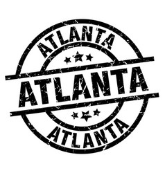 Atlanta black round grunge stamp vector